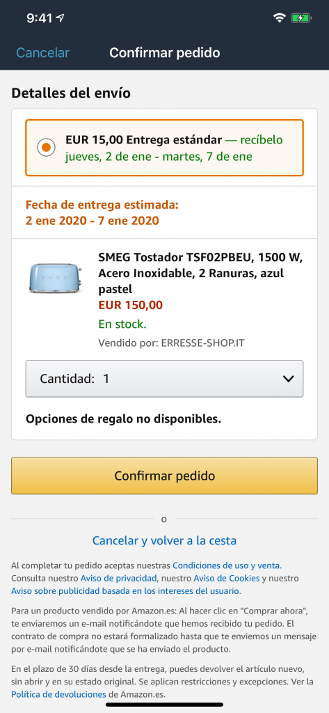 Amazon - Carritos abandonados