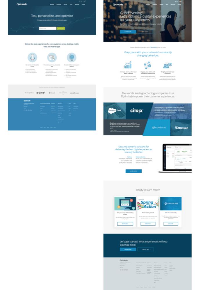 Tasa de conversión home page