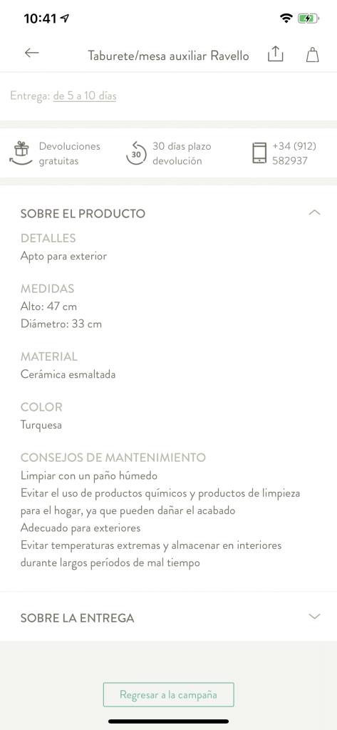 Descripciones de producto