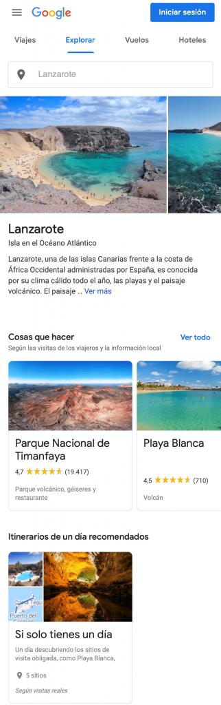 Planifica tu viaje Google