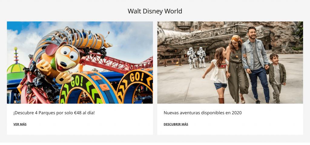 Omnicanalidad Disney Web